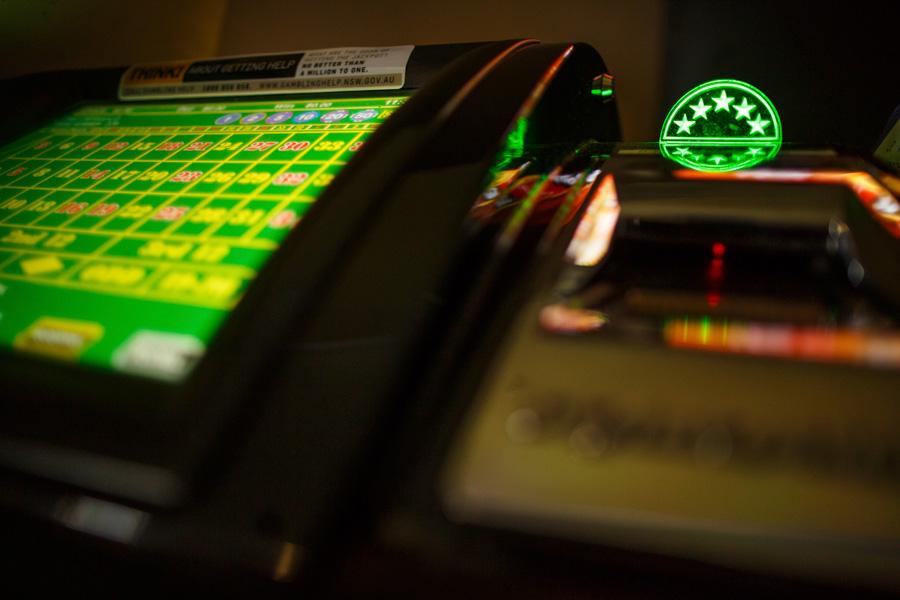 Photo of gambling machine in a club